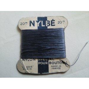 画像1: フランス アンティーク 糸巻き LA SOIE PARIS #2 グレー