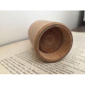 画像3: イギリス アンティーク 木製 バタースタンプ あざみ