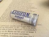 フランス アンティーク 筒型の小さなアルミ缶