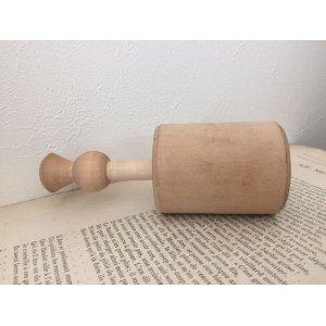 画像5: イギリス アンティーク 木製 バタースタンプ あざみ