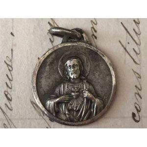 画像3: アンティーク メダイ イエズスの聖心/カルメル山の聖母