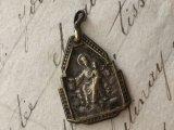 アンティーク メダイ 聖心を指すキリスト/カルメル山の聖母 #2