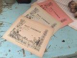フランス アンティーク 古い紙 3枚セット 1950's