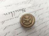 イギリス ヴィンテージ メタル ボタン 王冠/イカリ 海軍
