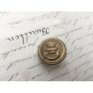 画像1: イギリス ヴィンテージ メタル ボタン 王冠/イカリ 海軍
